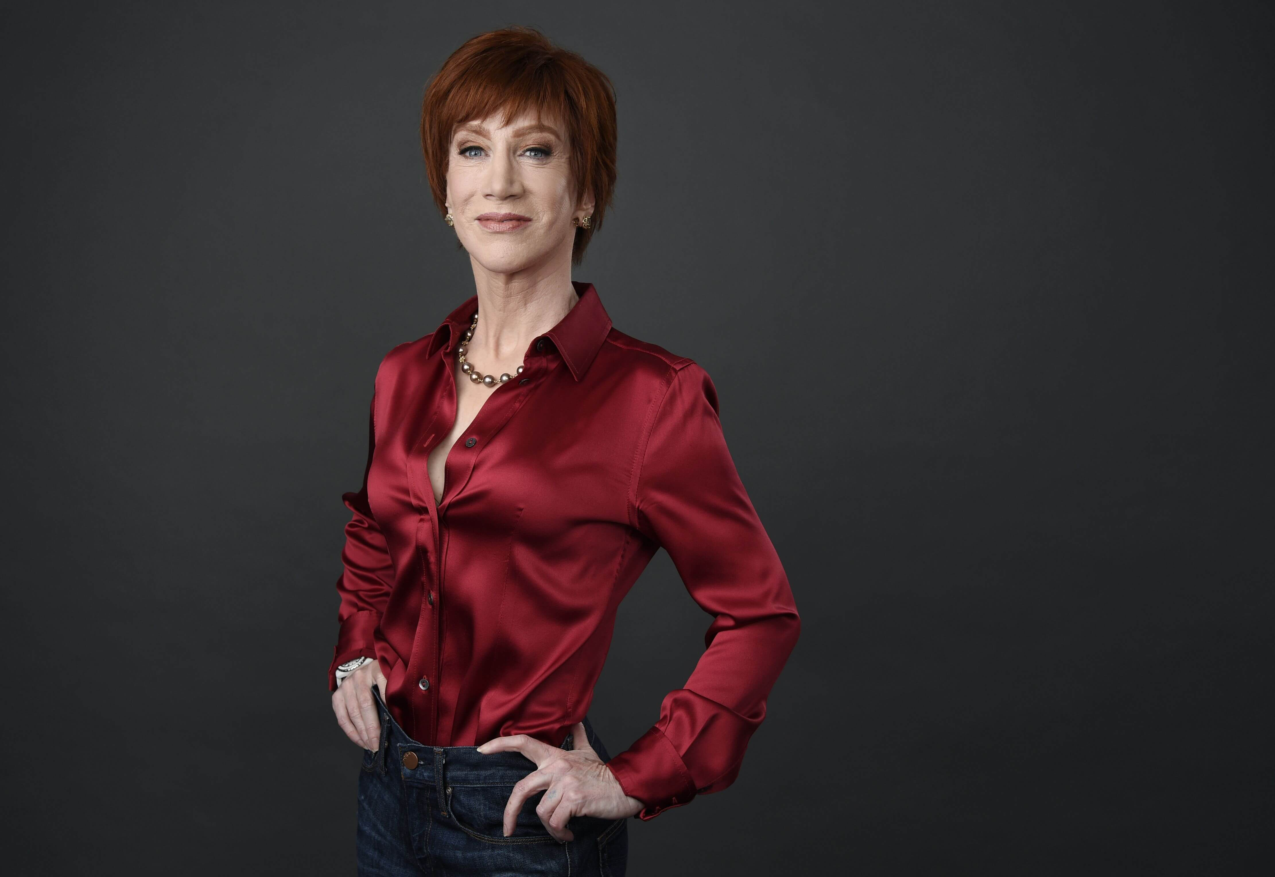 Kathy Griffin sexy red shirt