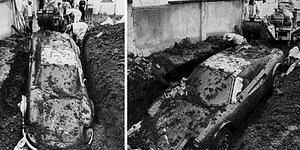 Гоночный Ferrari, кладбище XVIII века и другие сумасшедшие находки, которые люди нашли у себя во дворе