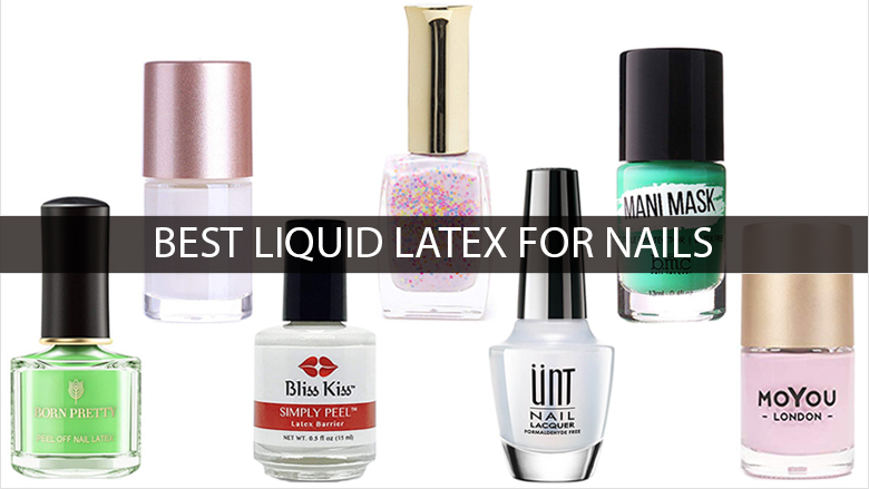 Latex glue for nails