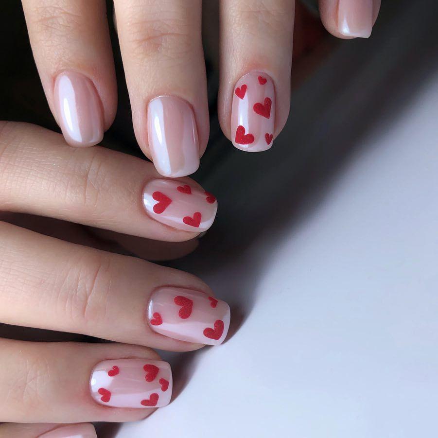 Valentine nails designs