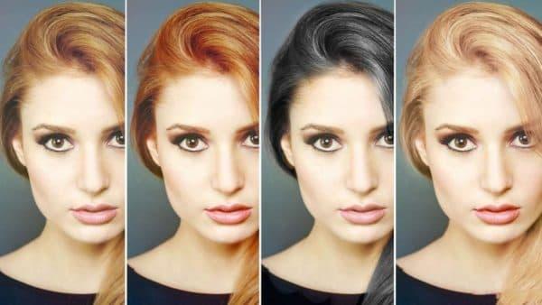 I поменять цвет волос на фото онлайн