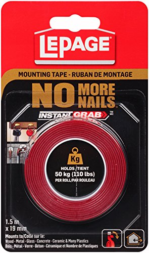 Lepage no more nails mounting tape review