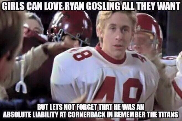 How old was ryan gosling in remember the titans