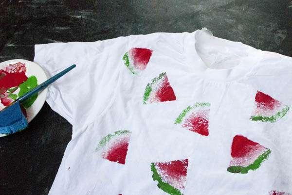 Как на футболке сделать рисунок