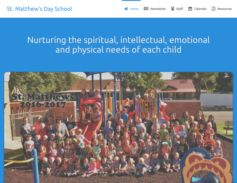 Landing page for St. Matthew's Day School
