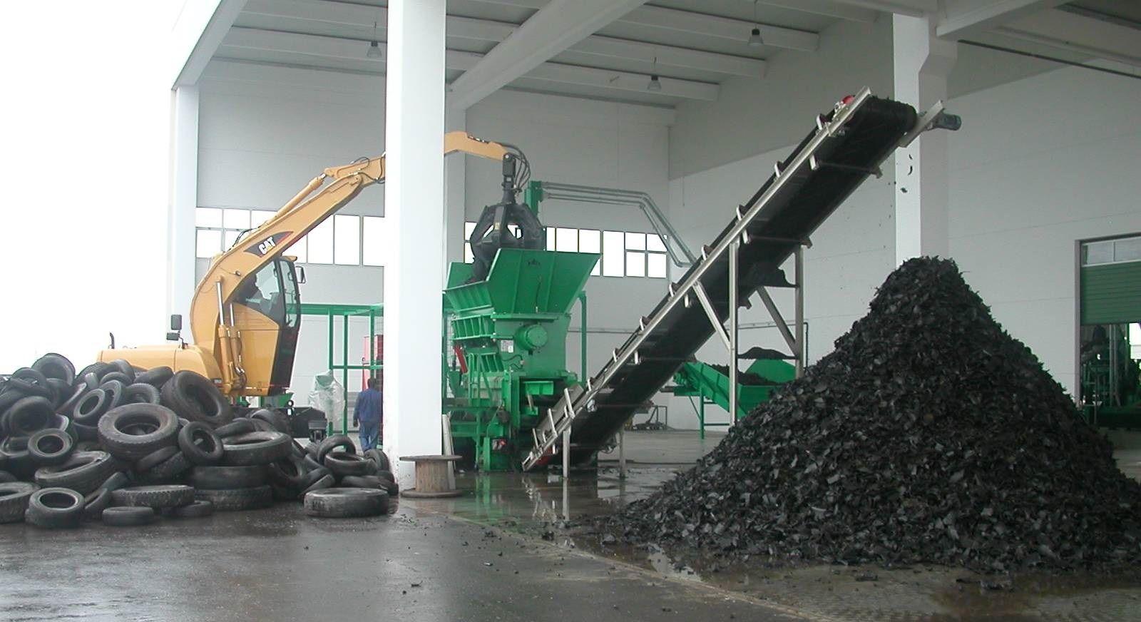 Завод по переработке автомобильных покрышек