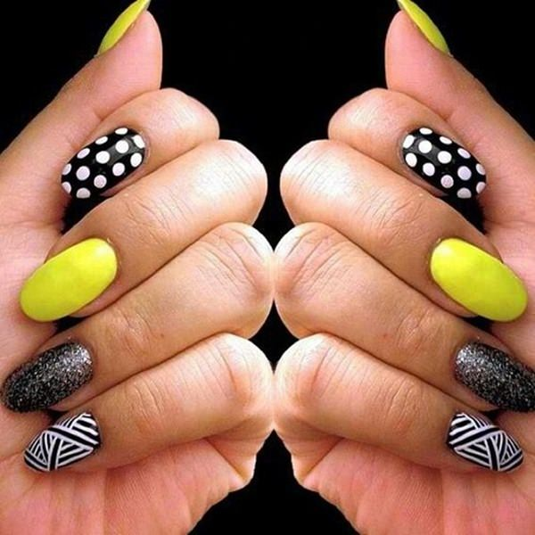 Nail designs for pointed nails