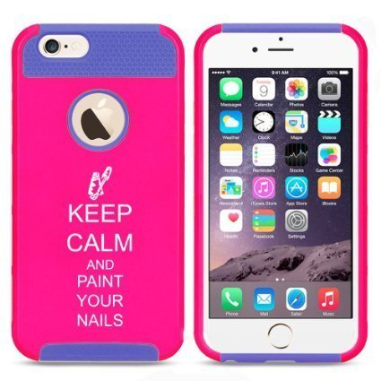 Keep calm and paint your nails iphone case