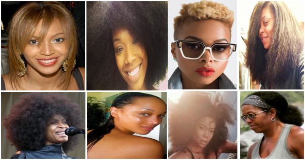 Black celebrities with natural hair