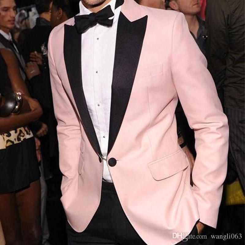 Black and pink suits for men