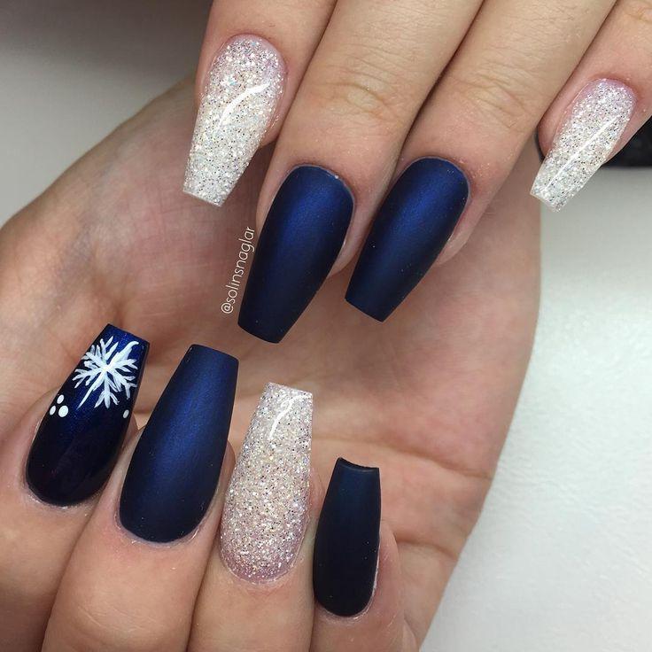Christmas acrylic nails tumblr