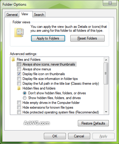 Cannot view thumbnails in vista