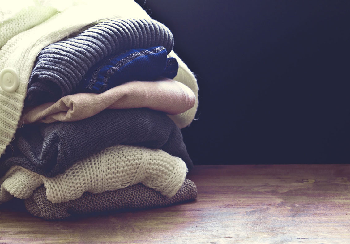 Fashion Design Sweaters Pile