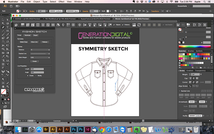 Illustrator Fashion Sketch Plugin Screenshot 1