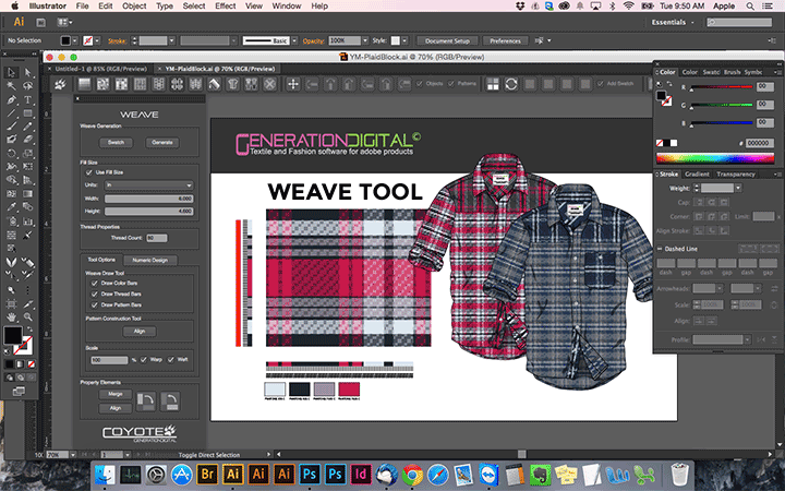 Illustrator Weave Plugin Screenshot 1