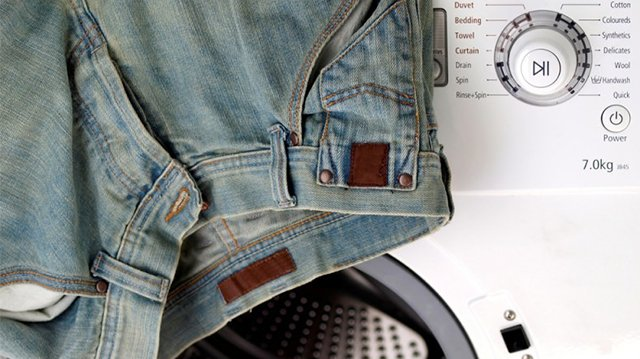 стирка джинсов в стиральной машине