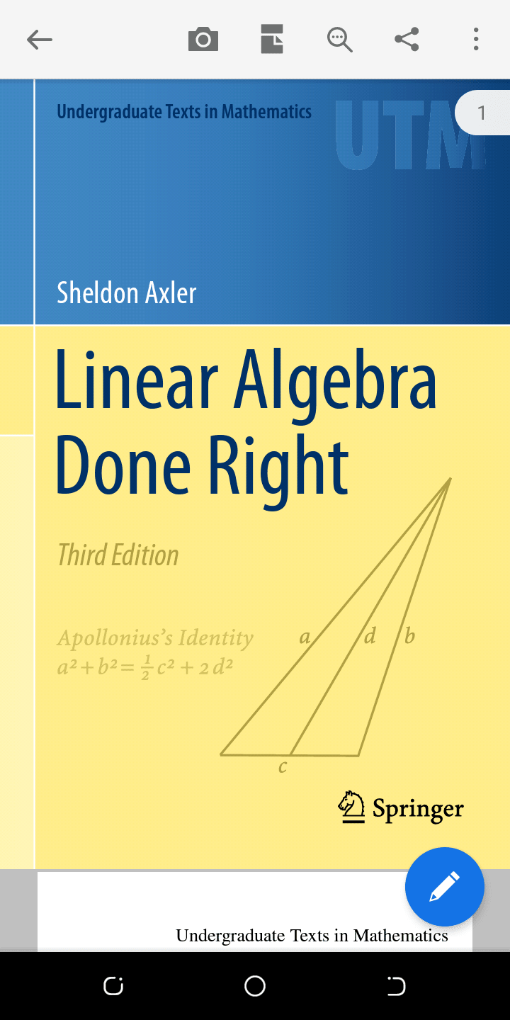 LINEAR ALGEBRA DONE RIGHT by Sheldon Axler