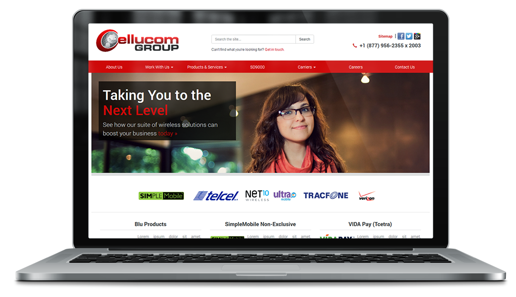 Synergiste Business Websites - Porfolio - Cellucom