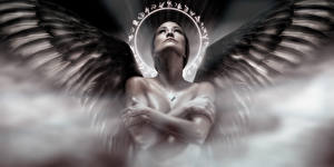 Обнаженная с ангелом
