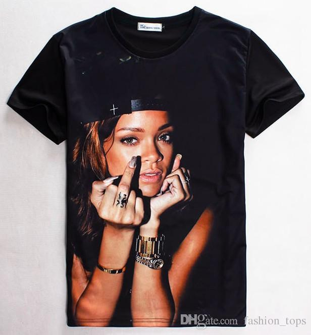 T shirt with rihanna on it