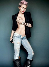 Голая актриса, певица Miley Cyrus фото, эротика, картинки - фотосессия из мужского журнала GQ на Xuk.ru! Фото 74