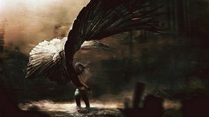 Превью обои ангел, девушка, падший, крылья