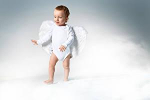 Фотография Ангелы Грудной ребёнок Мальчики Крылья Дети