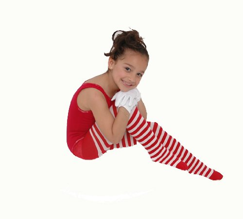 Kid's White Striped Tights in 22 Color Combos