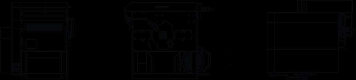 TITAN Manual Board Edger Line Drawing