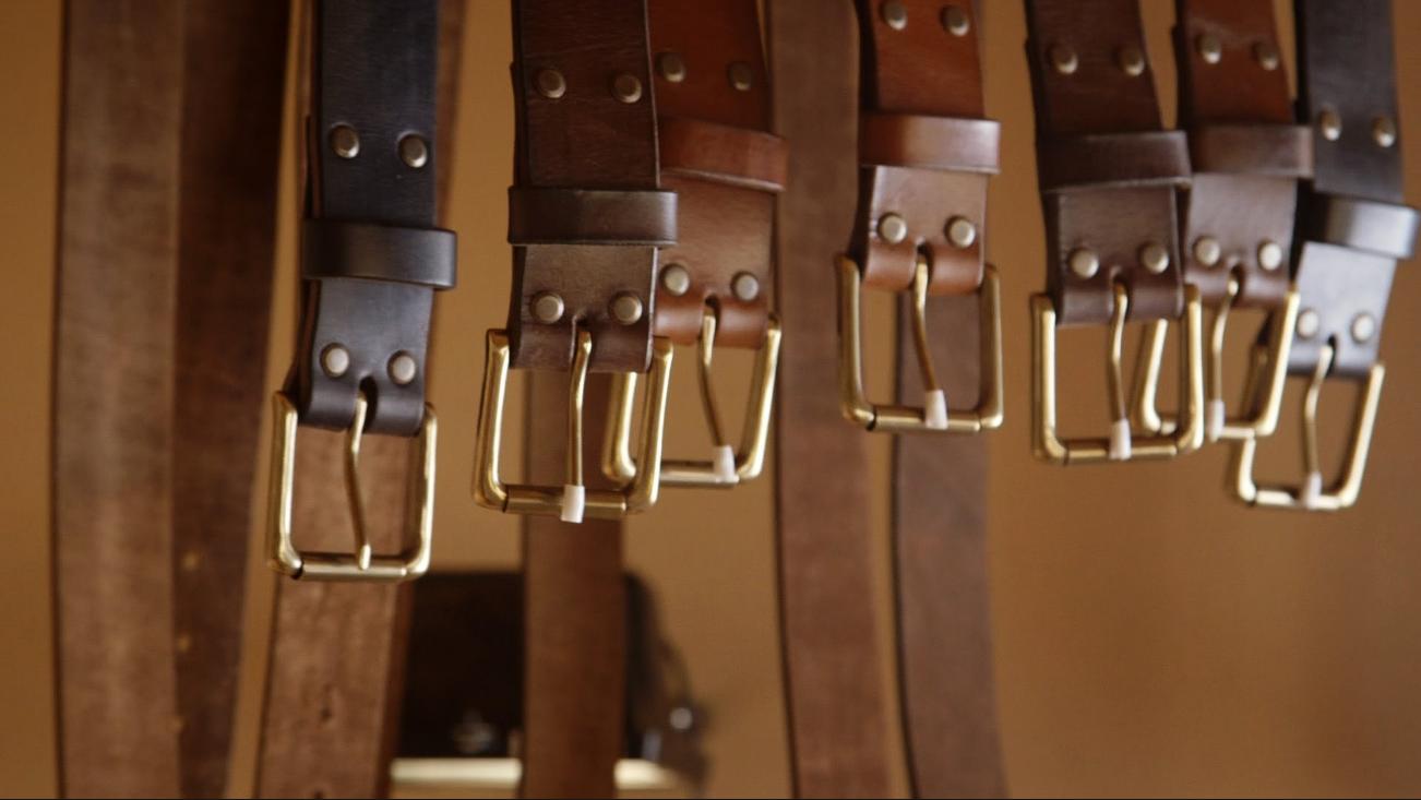 Производство ремней кожаных