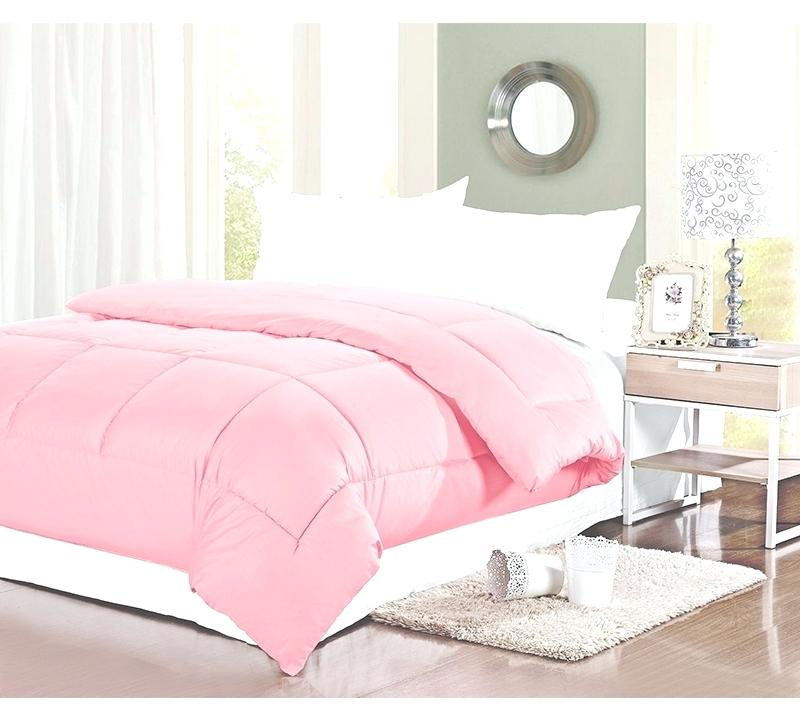 Plain light pink comforter