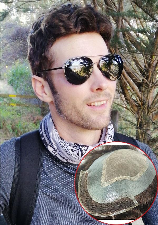 Mono top hairpieces for men