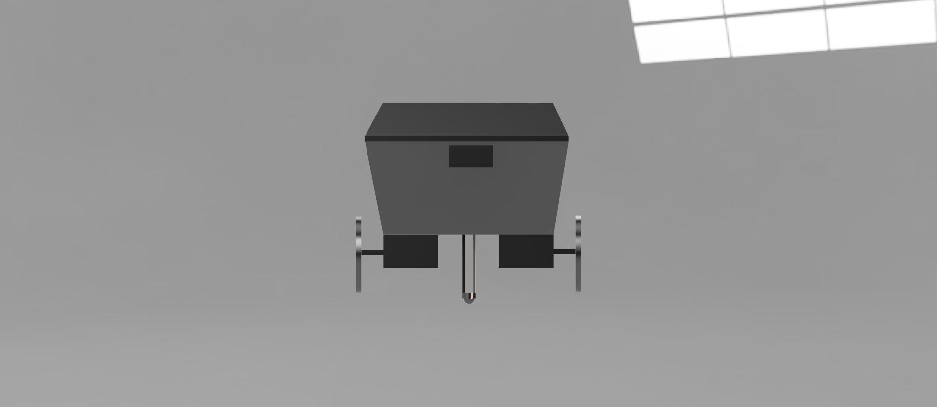 Rendered CAD Model - Front