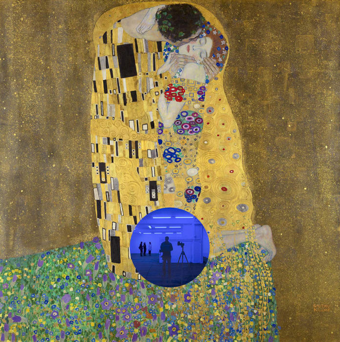 Gazing Ball (Klimt Kiss) by Jeff Koons