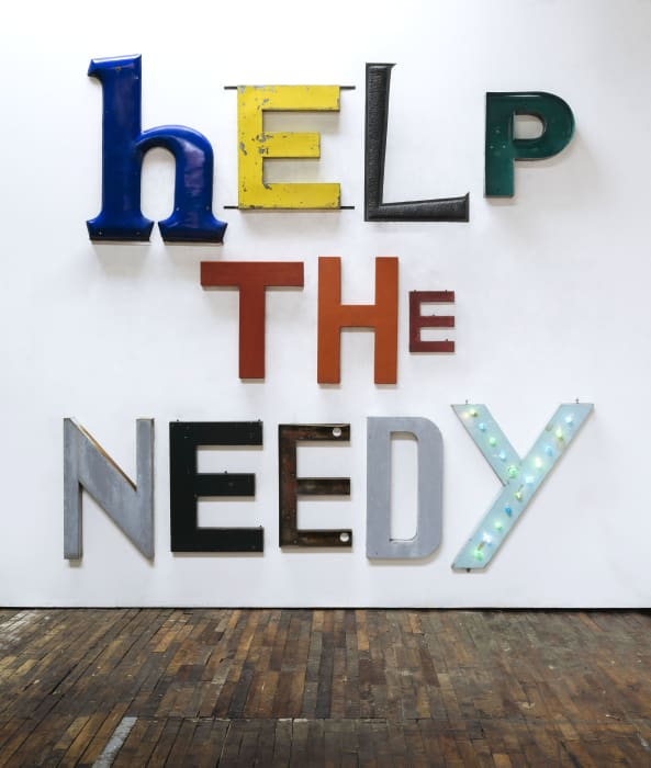 HELP THE NEEDY by Jack Pierson