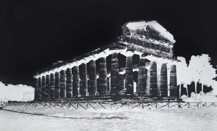 Temple of Athena, Paestum, V: October 8 by Vera Lutter