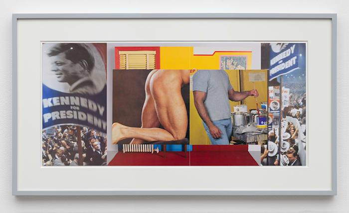 Gutter Collage 18 (Democratic Convention —Wesselmann—ass—painter) by William E. Jones