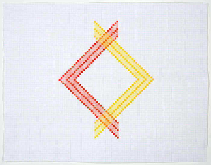 Study for Twill Series (Sunrise Red/Soft Orange/Golden Yellow) by Ruth Laskey