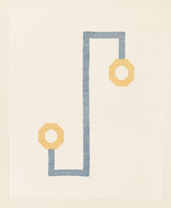 Twill Series (Cobalt Blue/Mustard) by Ruth Laskey