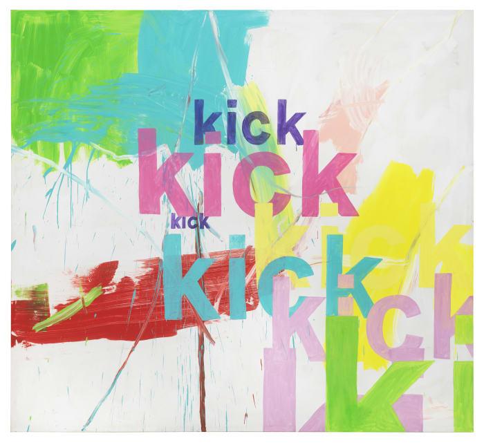 kick kick kick  by Michel Majerus