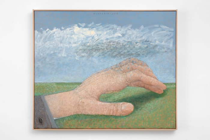 Hand, shadow and grass / Hand schaduw en gras, by Co Westerik