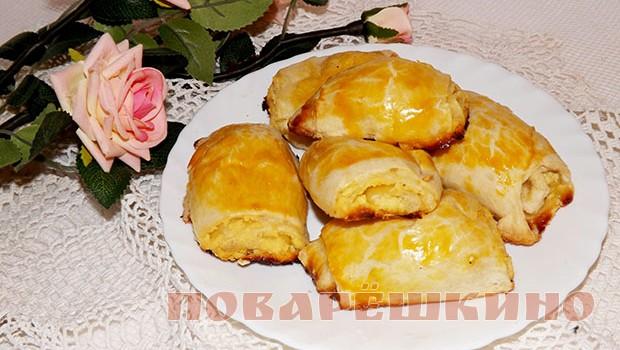 Слоеное печенье из творога