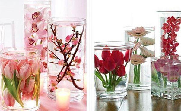 цветы в банке с глицерином