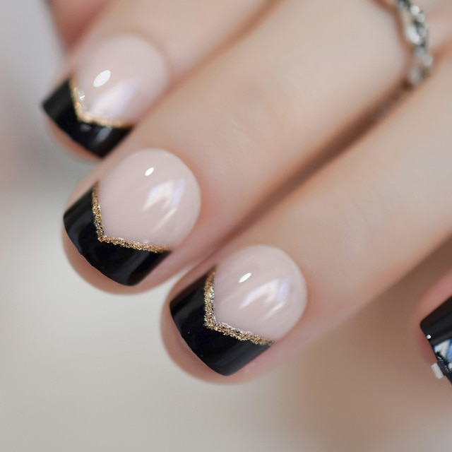 Gold tip fake nails
