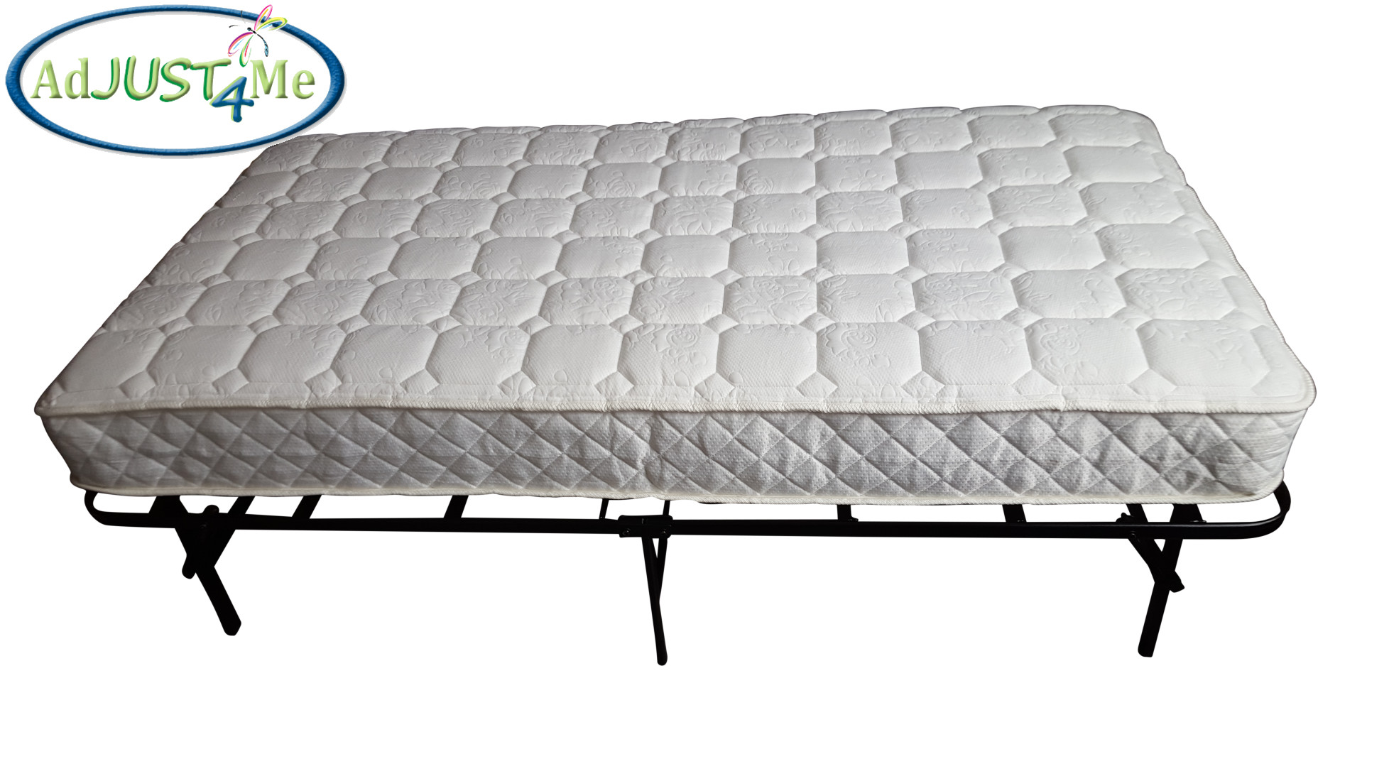 Twin size bed frame and mattress combo by adjust4me ebay for Twin mattress and frame
