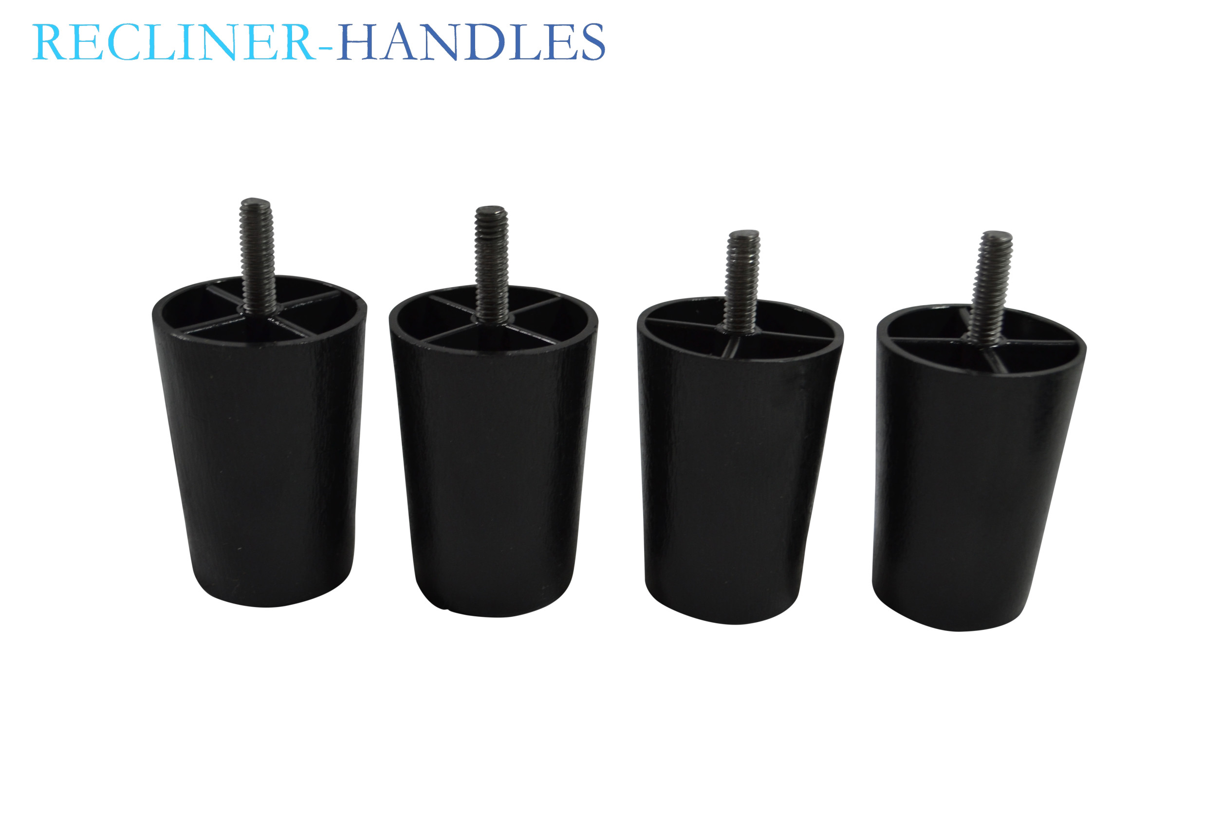 Recliner Handles Replacement Furniture Legs 3 Inches Set Of 4 Plastic Black Ebay