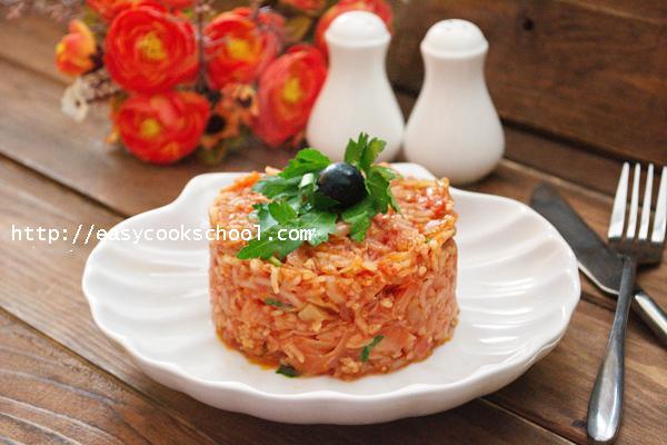 Фарш капуста рис рецепт