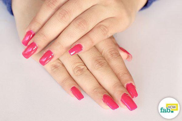 How do i apply acrylic nails