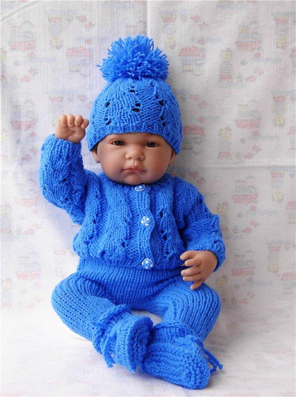 Связанная одежда для кукол спицами