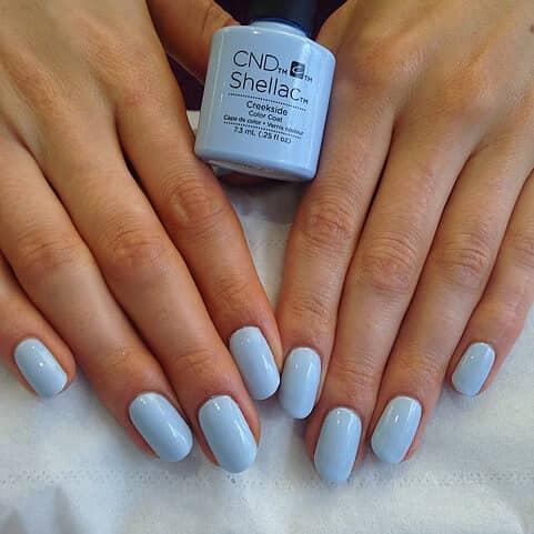 Easy Powder Blue Manicure